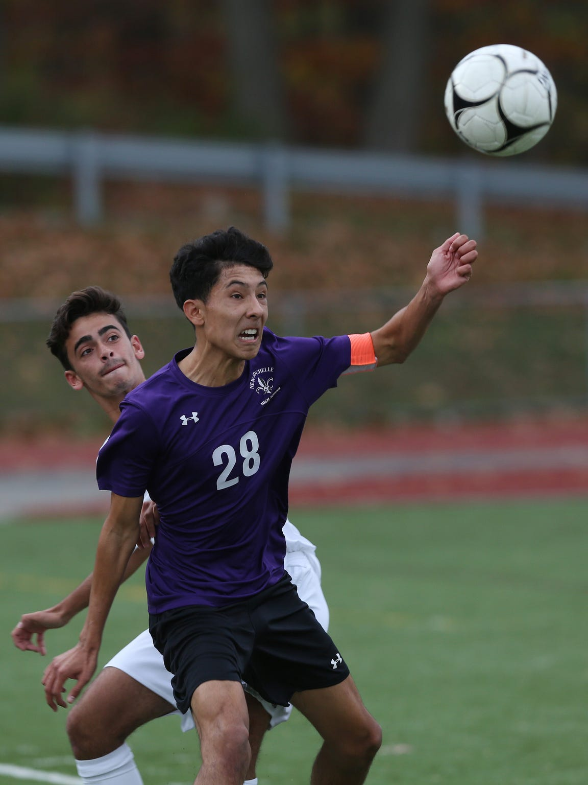 New Rochelle defeated Arlington 3-0 in the boys soccer