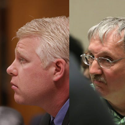 Left, Stephen Busch, the suspended Lansing district