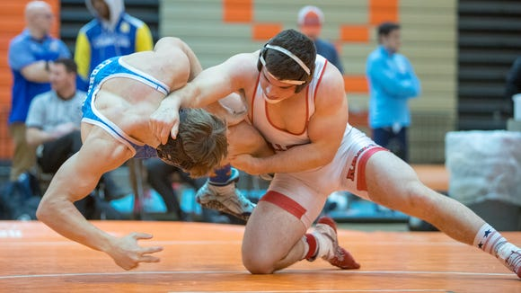 Hillcrest senior Garrett Sayegh, right, ranked No. 1 in the state in Class AAAAA at 195 pounds, was a state runner-up last year.