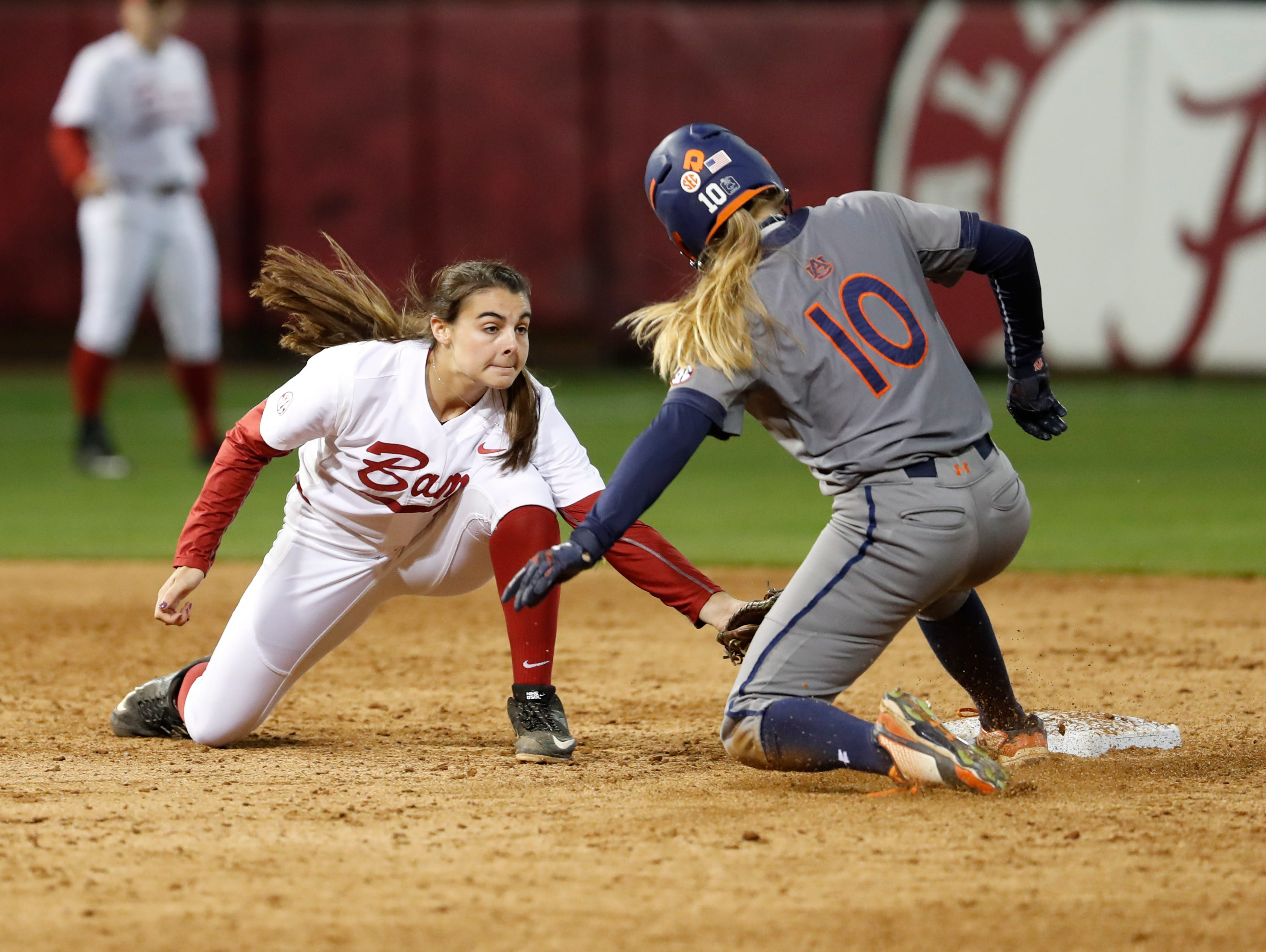 The Auburn and Alabama softball teams played nine innings on May 5 in Tuscaloosa.