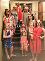 Stylin' with Tri Kappa – Fashions from Schon graced the runway at Rolling Hills Country Club last week as the Boonville Tri Kappa style show took place. Posing for a photo op are Ava Scales, Hadley Jackson, Natalie Jackson, Mary Jackson, Abby Gore, Ariana Pettitt, Haley Lance, Katy Scales, Heidi Lance, Tammy Miller, Emma Bender, Dawn Pettitt and Emily Westrich.