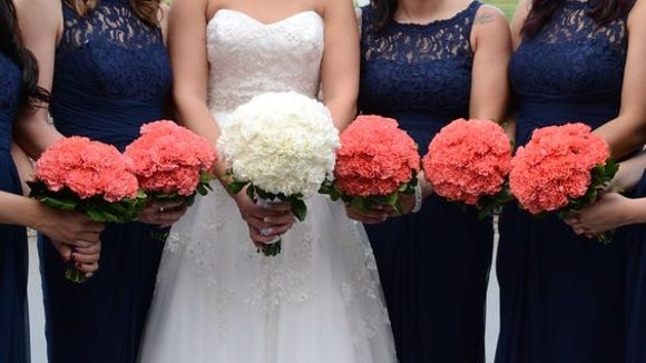 Pink and White Carnation Bouquets