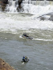 A boat from the Cascade County Sheriff's Office aided