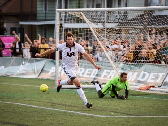 Seb Harris of Detroit City FC has two kids and two