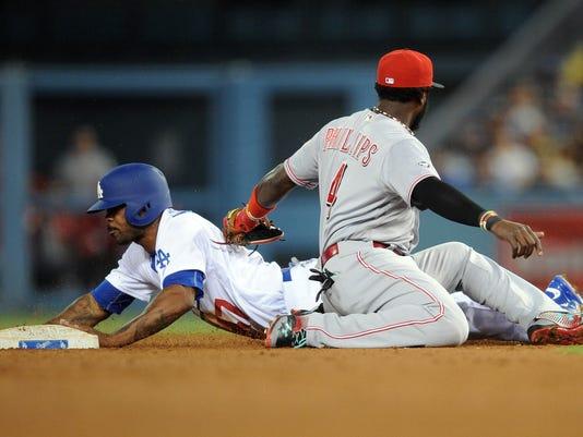 MLB: Cincinnati Reds at Los Angeles Dodgers