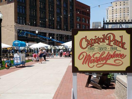 Capitol Park features more than 10 popup shops and food carts Tuesdays through Sundays.