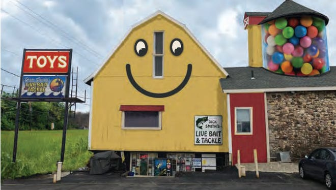 The Smiley Barn will likely return to Delafield, but commissioners were not in favor of a giant gumball machine mural on the barn's silo.