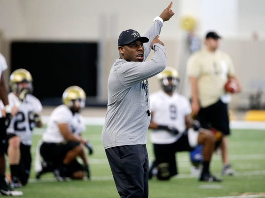 Vanderbilt head coach Derek Mason is using game film