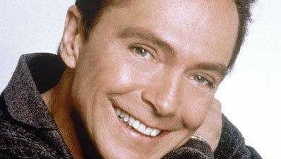 David Cassidy: In a happy mood.