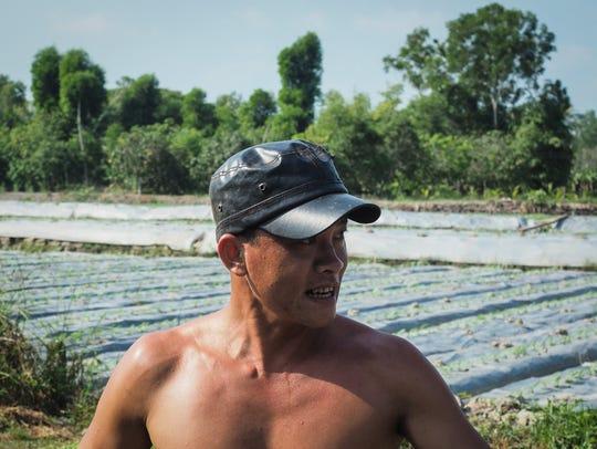Farmer Nguyen Tran Ngoc is facing a severe drought