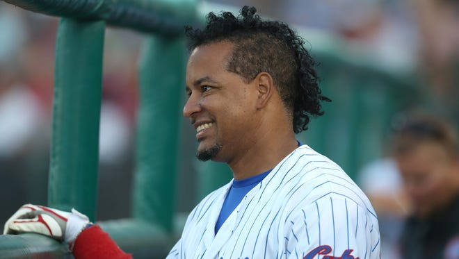 Manny Ramirez hit a tiebreaking single up the middle in Sunday's eighth inning to give the Iowa Cubs a 5-4 road victory over Oklahoma City.