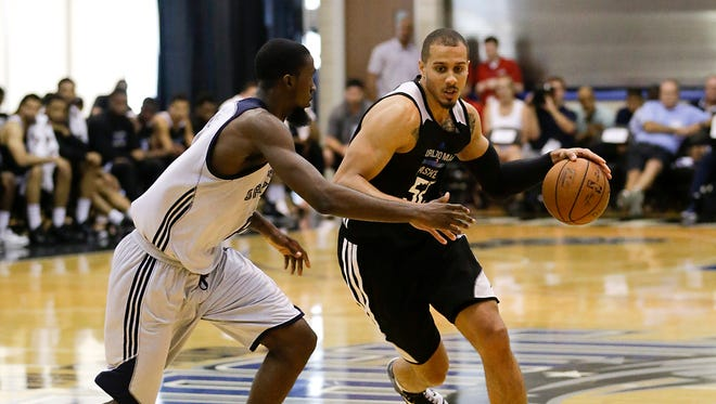 Jordan Morgan competes for the Magic in the NBA Orlando Summer League earlier this month.