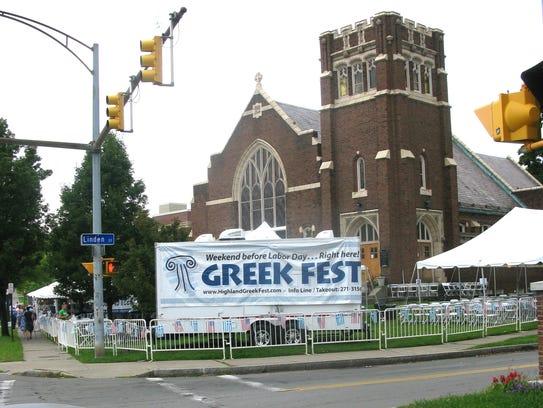 The Greek Festival is held on East Avenue.