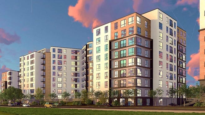 A 2019 rendering of the Clarendon Hill redevelopment.