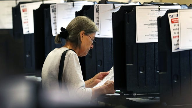 An early voter in Miami on Oct. 31, 2016.
