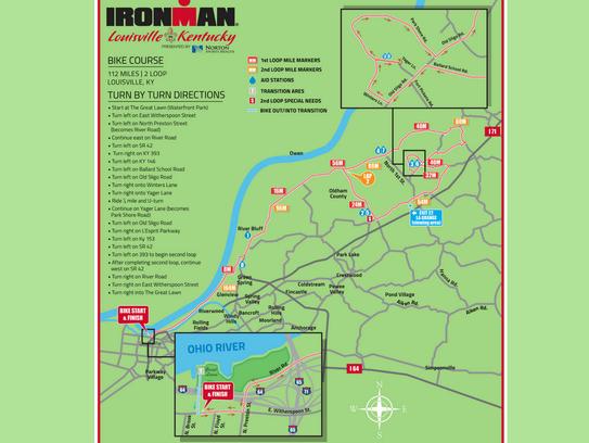 Louisville Ironman 2016 Maps