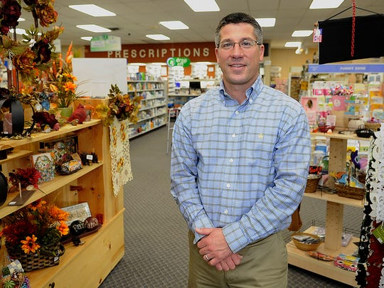 Jason Gruszynski owner of Daly Drug in the store in Wisconsin Rapids.