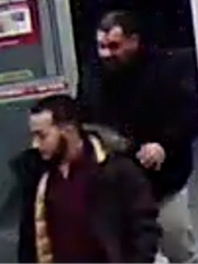 Evesham police are seeking to find these two men in connection with an alleged scam at a local store.