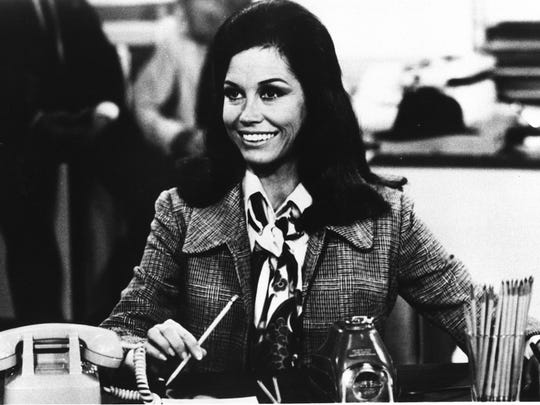 "Mary Richards (Mary Tyler Moore) always had her WJM-TV desk organized just right on ""The Mary Tyler Moore Show."""
