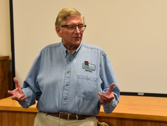 Former DNR Secretary George Meyer addresses the Wisconsin