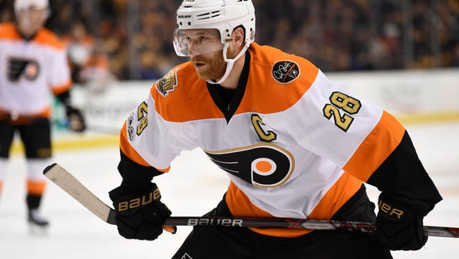 Claude Giroux says he likes the pressure that comes with the captaincy of a team.
