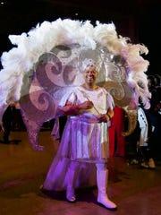 Krewe Sobek King XV Lyndon  B. Johnson, a Caddo Commissioner, is presented at the Sobek Grand Ball.