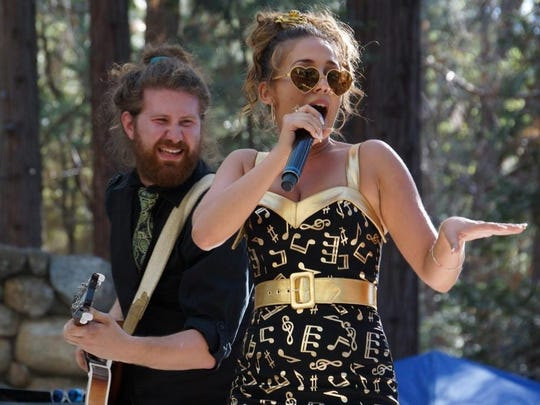 """""""American Idol"""" alumni Casey Abrams (left) and Haley Reinhart were one of the highlights of last weekend's Jazz in the Pines Festival in Idyllwild"""