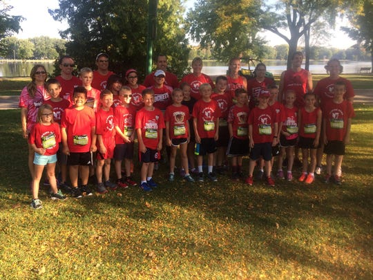 About 20 Spring Road Elementary School students in grades 3-5 were joined by family and staff in running the Fox Cities 5K on Sept. 23 at Riverside Park in Neenah. The group trained for the previous three weeks and a couple of students placed among the top three in their age groups.