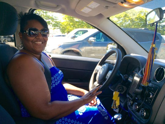 Angela Nobles has been an Uber driver for four months.