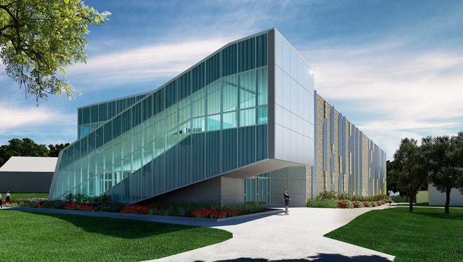 A rendering of the $26.3 million Laboratory Sciences Annex at the University of West Florida's Hal Marcus College of Science and Engineering.