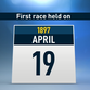 First race held on April 19, 1897