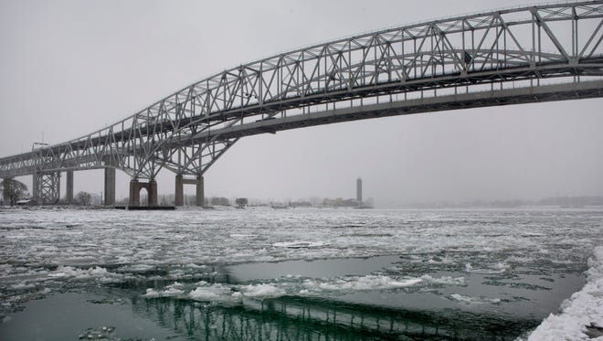 The westbound span of the Blue Water Bridge will be closed for resurfacing beginning in April and will reopen by July 1. All traffic will be diverted to the eastbound span.