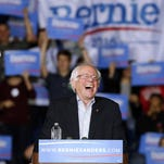 Democratic presidential candidate, Sen. Bernie Sanders, I-Vt, speaks during a campaign rally on Oct. 3 in Springfield, Mass.