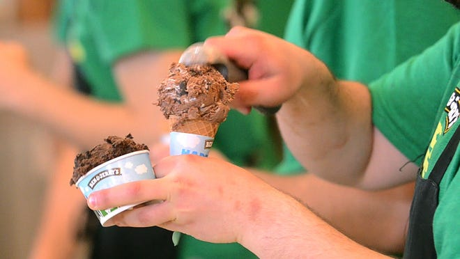 Ben & Jerry's gets scooped in cups and cones.