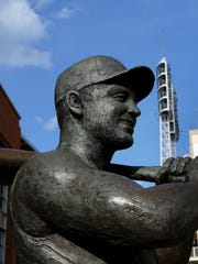 Ted Kluszewski's statue at Crosley Terrace outside of Great American Ball Park.