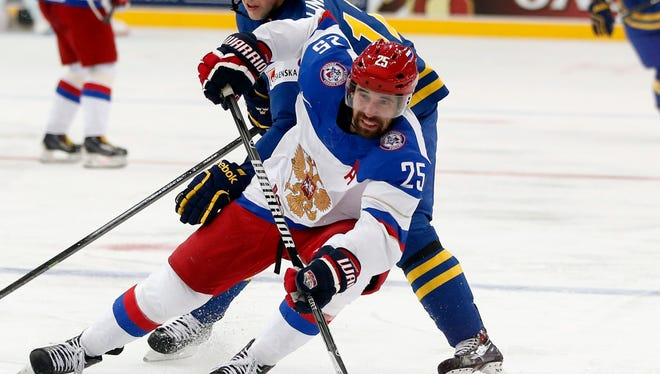 Danis Zaripov had 15 goals in 18 playoff games in the KHL.