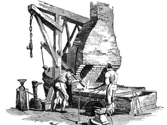 A historic iron furnace.