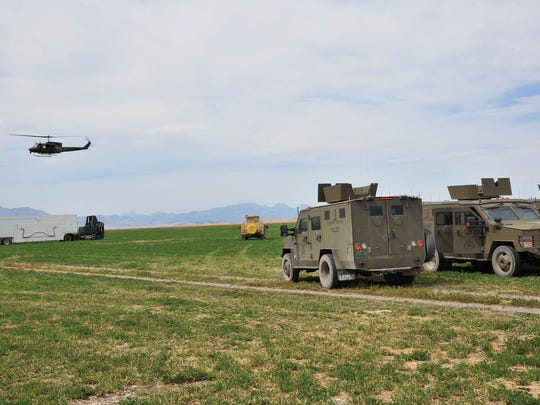 The Hueys are used by the 40th Helicopter Squadron, which provides security and can quickly move reaction teams into the field. They also provided search and rescue across the region to help civilian resources.
