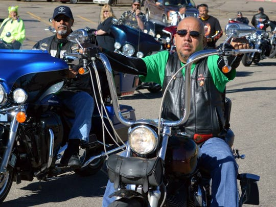 Bikers can show off their ride at the Golden Aspen Motorcycle Rally parade through midtown at 10 a.m. Saturda. Line up is at 9:30 a.m. in the Albertson's Market  parking lot at 721 Mechem Drive.