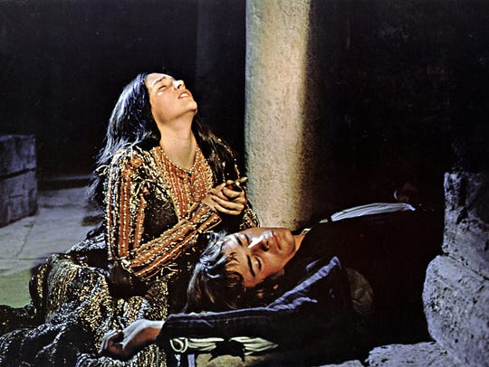 The death scene from Franco Zeffirelli's 'Romeo and