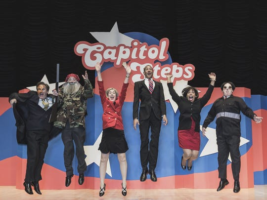 The Capitol Steps singing comedians return to the Scottsdale Center for the Performing Arts on Thanksgiving weekend, Nov. 28–29.
