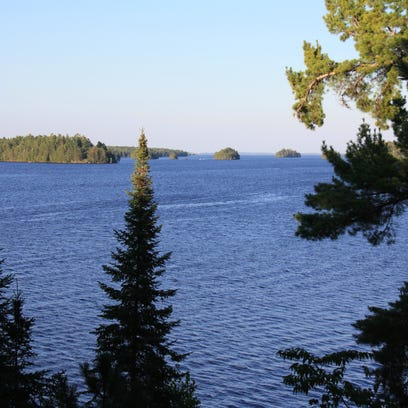 Rainy Lake, as seen from a cabin deck, offers quality fishing as well as scenic beauty.