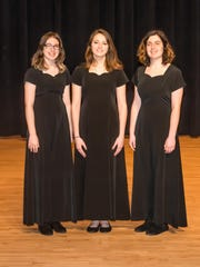 Three Randolph High School students performed with the 2017 All North Jersey Mixed Chorus; left to right, Regina Silikovitz, Laura Nolan and Theresa Pelosi.