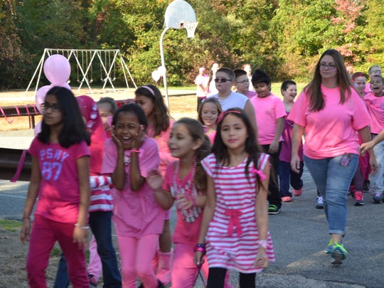 Cooper Elementary School students, and techers, Pink out raises funds for Central Jersey Foundation