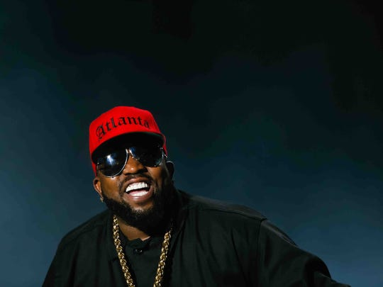 Big Boi with Outkast lights up the Firefly Main Stage Saturday night as thousands roll into the Woodlands on the third day of Firefly Music Festival in Dover Saturday June 21, 2014. His group Big Grams is coming to Bunbury Music Festival. (Via OlyDrop)