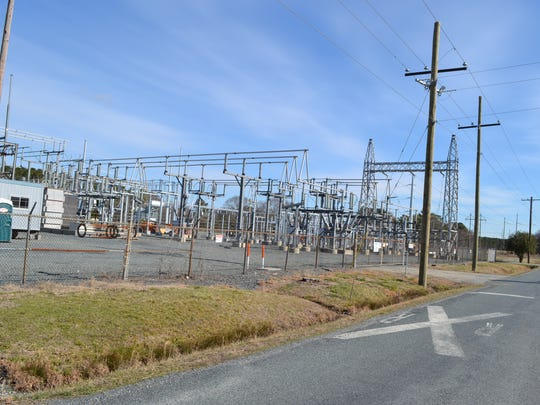 A Delmarva Power substation on Perry Road in Somerset County is set to be connected to a planned solar farm substation across the street.