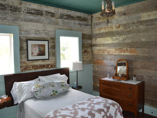 This is one of the rustic bedrooms in which bed and breakfast visitors stay at Chickama, a house near Lecompte that is on track to join the National Register of Historic Places.