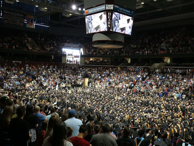 Graduates fill the floor during the OTC Commencement