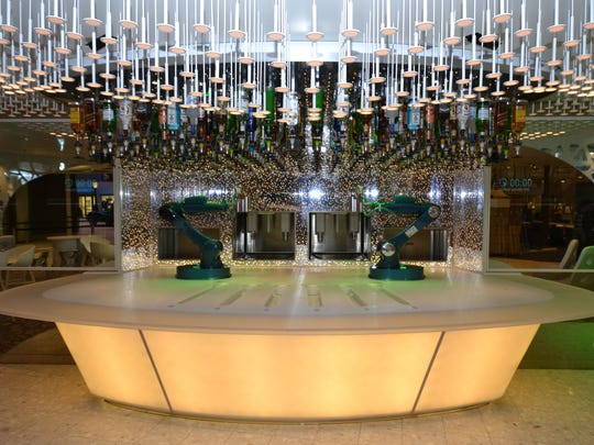 Harmony features a Bionic Bar where a robot bartender