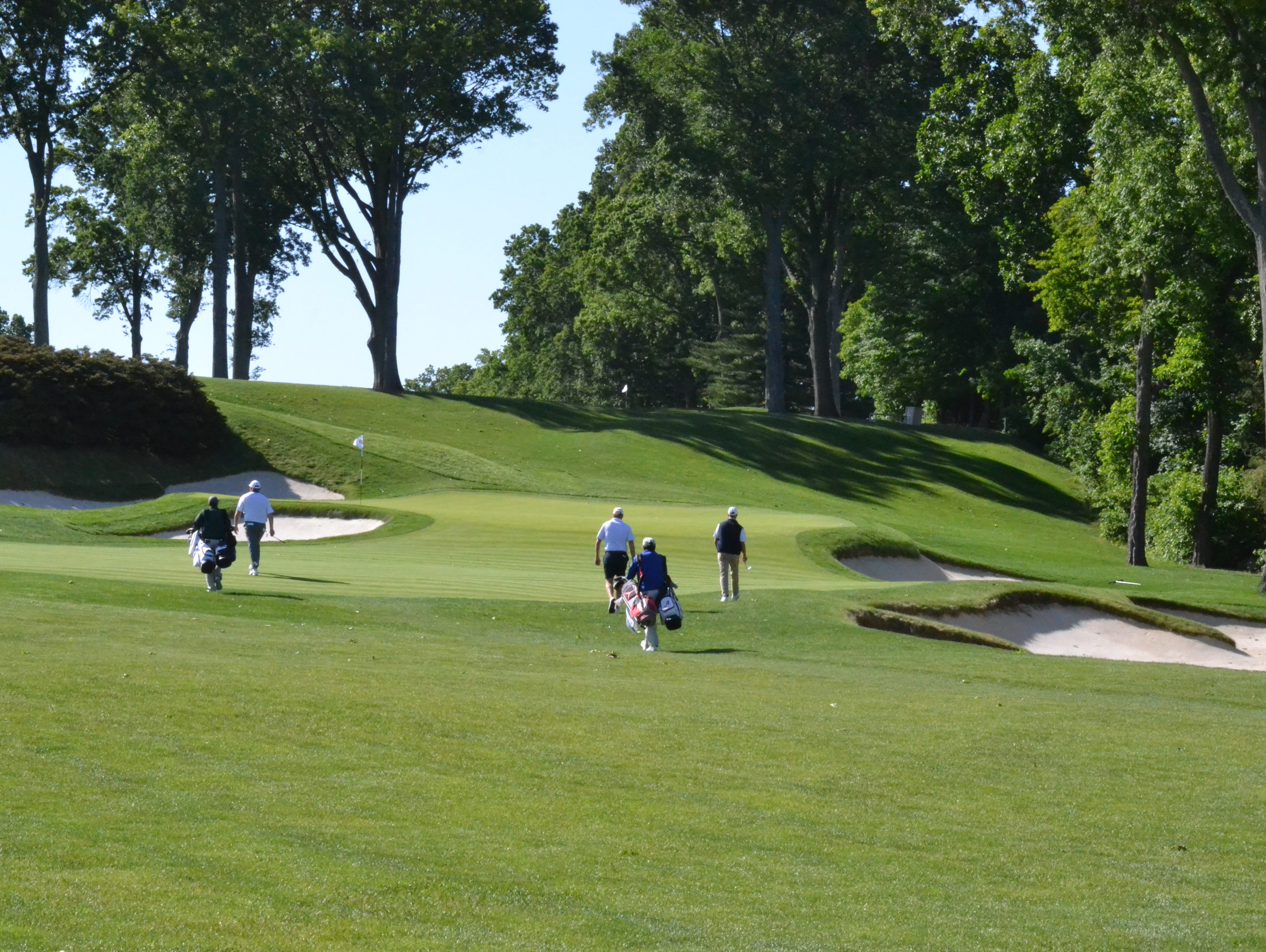 Anderson Memorial semifinal play gets under way at Winged Foot early on Sunday morning.